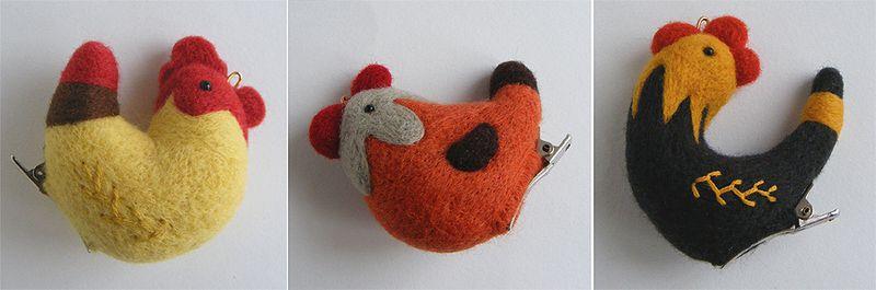 Chicken-brooches